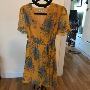 Floral Madewell Dress, Size 0